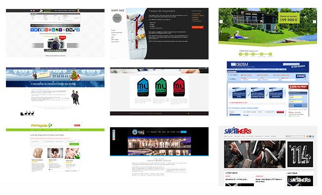 Exemples de site réalisés par SEW